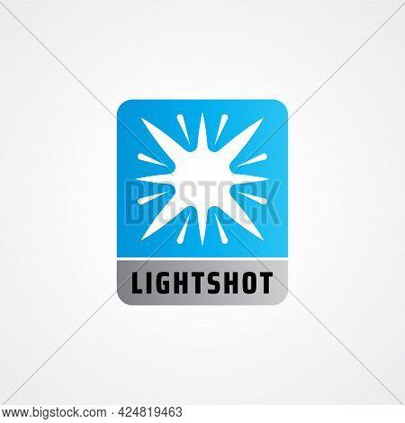 Lightshot Logo Design Concept For Lighting Professional Company, Laser Art Show, Multimedia Event, T