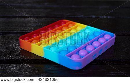 Anti Stress Sensory Toy Pop It. Colorful Antistress Sensory  Toy Fidget Push Pop It. Trend 2021.