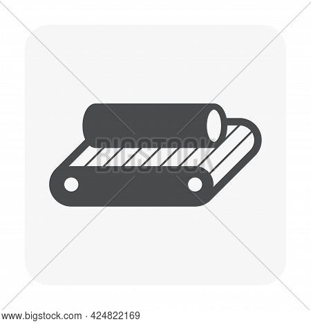 Metallurgy Or Metallurgical Production Industry Vector Icon. Consist Of Hot Casting Metal, Iron Or S