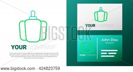 Line Bell Pepper Or Sweet Capsicum Icon Isolated On White Background. Colorful Outline Concept. Vect