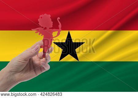 Valentine's Day In Ghana. Relations In Ghana. Celebrating International Valentine's Day.