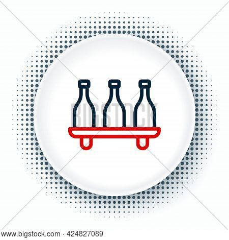 Line Bottle Of Wine Icon Isolated On White Background. Wine Varieties. Colorful Outline Concept. Vec