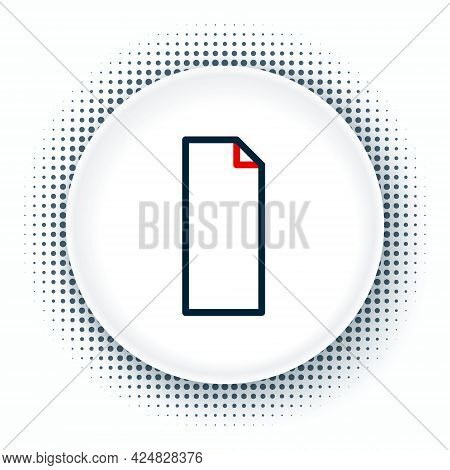 Line Grip Tape On A Skateboard Icon Isolated On White Background. Colorful Outline Concept. Vector