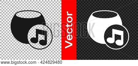 Black Voice Assistant Icon Isolated On Transparent Background. Voice Control User Interface Smart Sp