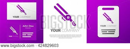 Logotype Curling Iron For Hair Icon Isolated On White Background. Hair Straightener Icon. Logo Desig