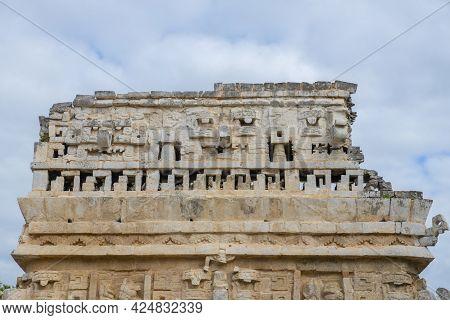 La Iglesia Church At Chichen Itza Archaeological Site In Yucatan, Mexico. Chichen Itza Is A Unesco W