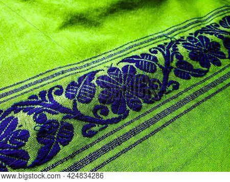 Tribal Pattern Or Ethnic Pattern Is Used For Assam Motif Design Or Muga Silk Of Assam. Similar To Uk