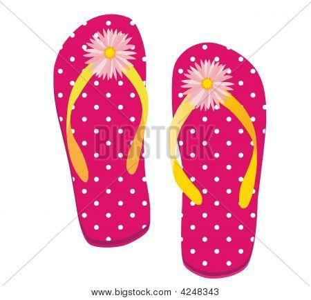Pink Dot Flip Flop