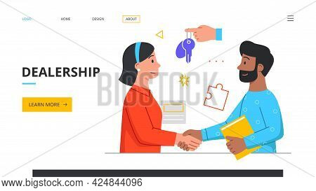 The Man And Woman Have Reached An Agreement. Handshake Concept. Licensing Contract, Bill Of Sale, De