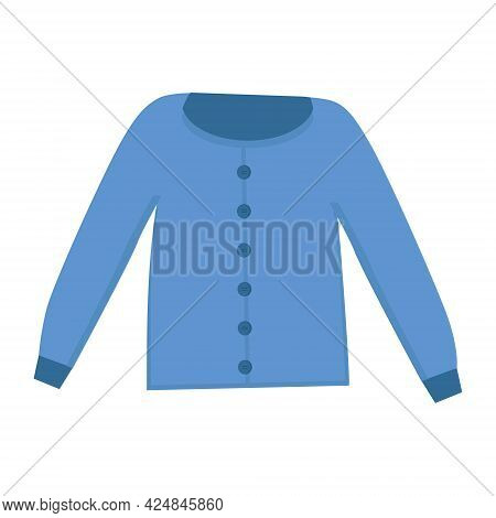 The Blouse Is Blue On A White Background For Use In Clipart Or Web Design