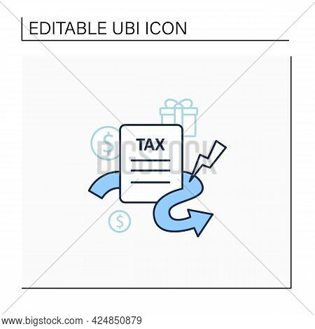 Closing Tax Loopholes Line Icon. Tax Declaration. Help Raise Significant Revenue. Assistance To Gove