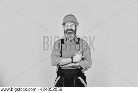 Inspecting. Control Concept. Foreman With Document. Delivering Building Materials. Man In Hard Hat H
