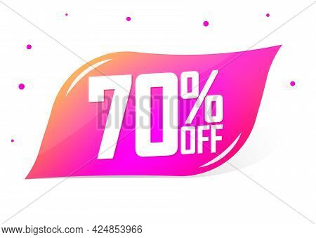 Sale 70% Off, Banner Design Template, Discount Tag, Shopping Promo Poster