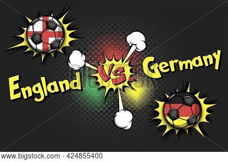 Soccer Game England Vs Germany