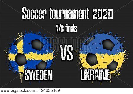 Soccer Game Sweden Vs Ukraine