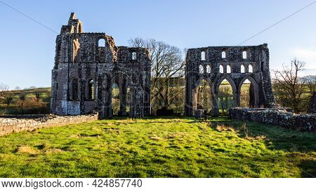 The Remains Of Dundrennan Abbey, A Medieval Abbey In Dumfries And Galloway, Scotland