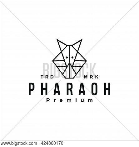 Egyptian Pharaoh Outline Icon. Linear Style Sign For Mobile Concept And Web Design. Tutankhamen Mask