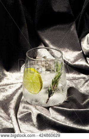 Gin and tonic with rosemary