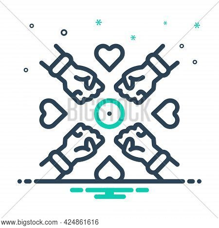 Mix Icon For Inclusion Tolerance Supportive Gathering Corporate Collaboration