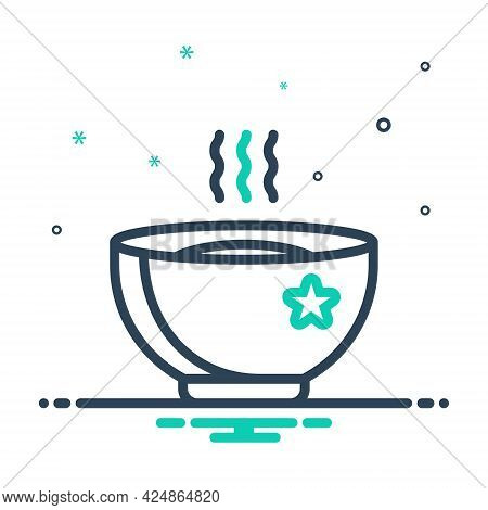 Mix Icon For Hot Soup Warm Snug Torrid Sizzling