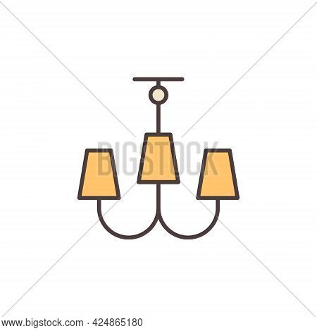 Chandelier Vector Concept Modern Colored Icon Or Symbol