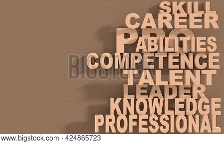 Competence Theme Words Cloud. Concept Of Business