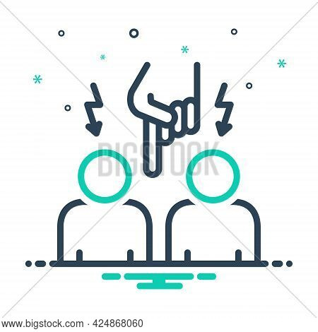 Mix Icon For Interfere Interlope Admission Entrance Entry Penetration