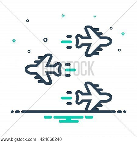 Mix Icon For Individualization Airplane Forward Backwards Opposite Direction