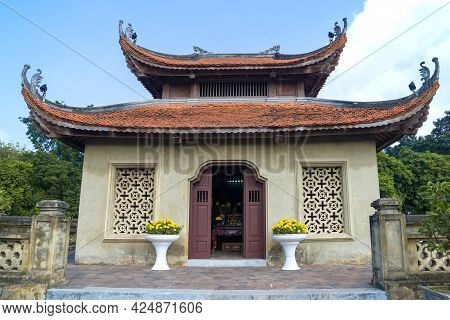 Old Buddhist Pagoda On Top Of The North Gate Of The City Citadel Thang Long. Hanoi, Vietnam