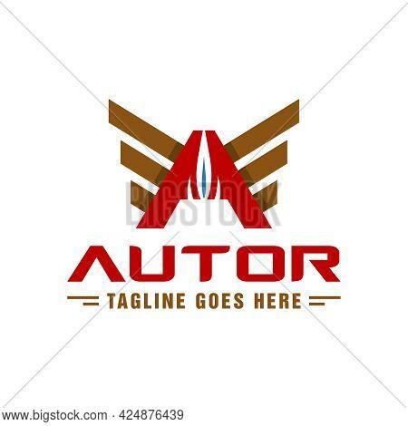 Petroleum Illustration Logo Design With Letter A