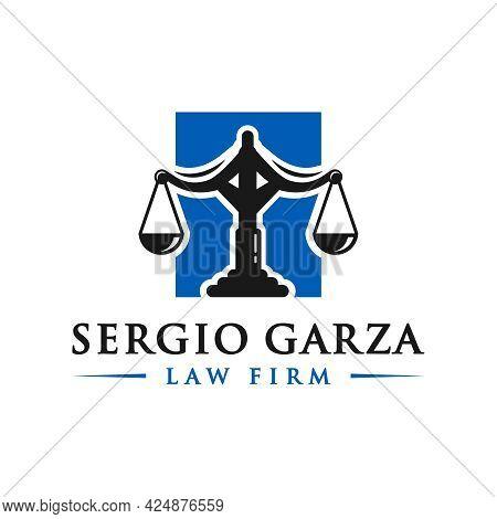 Legal And Lawyer Symbol Illustration Logo Design