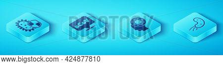 Set Isometric Shield Protecting From Virus, Corona Virus 2019-ncov On Location, Virus And Human And