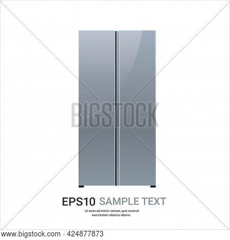 Stainless Steel Refrigerator Side By Side Fridge Freezer Modern Kitchen Household Home Appliance