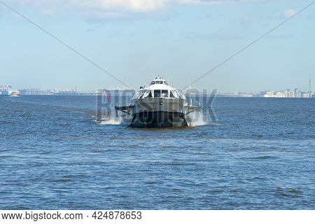 Saint Petersburg, Russia - May 30, 2017: The Hydrofoil Ship