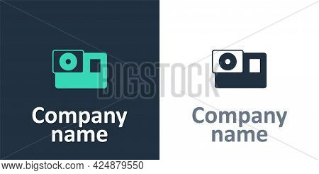 Logotype Action Extreme Camera Icon Isolated On White Background. Video Camera Equipment For Filming