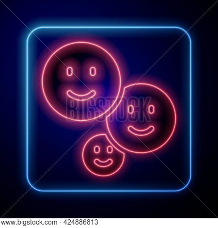 Glowing Neon Happy Friendship Day Icon Isolated On Black Background. Everlasting Friendship Concept.