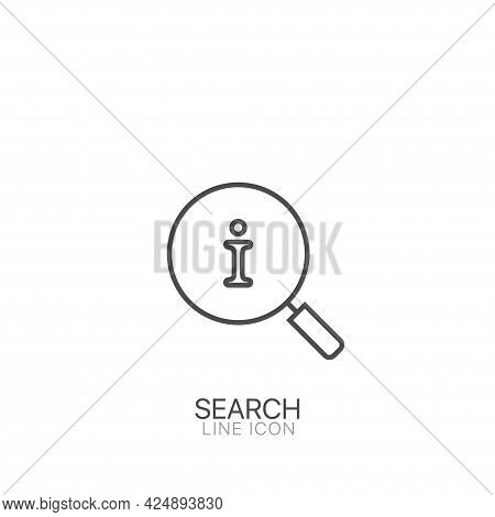 Magnifying Glass And Information Icon Information Help Icon, Info Bubble Desk