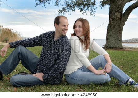 Young Married Couple At The Park