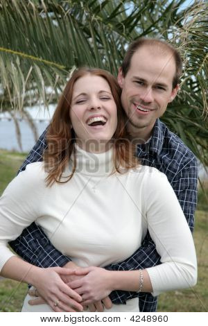 Young Married Couple Having Fun