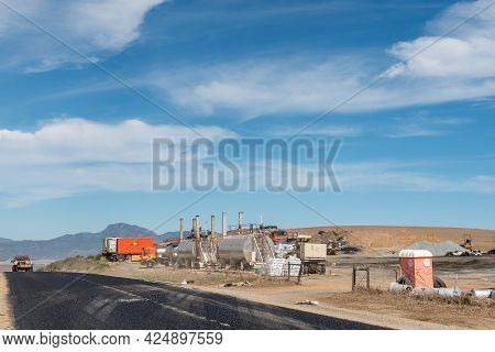 Caledon, South Africa - April 12, 2021: A Road Maintenance Depot On Road R43 Between The Theewatersk