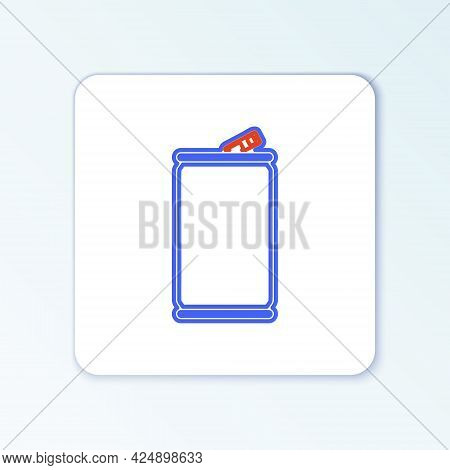Line Aluminum Can Icon Isolated On White Background. Colorful Outline Concept. Vector