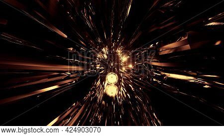 Glowing Sphere In Tunnel On 4k Uhd 3d Illustration