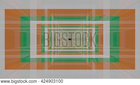 Abstract 3d Illustration In 4k Uhd Of Squares