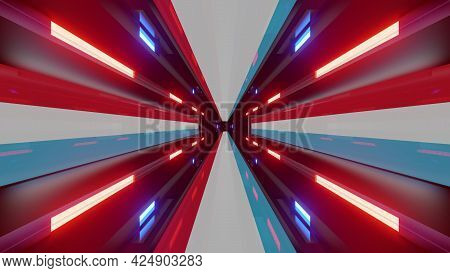 Abstract Tunnel With Luxembourg Flag As 4k Uhd 3d Illustration