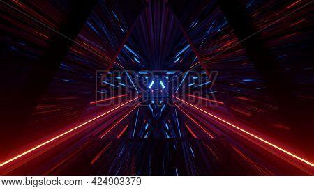 Dark Triangle Abstraction As 4k Uhd 3d Illustration
