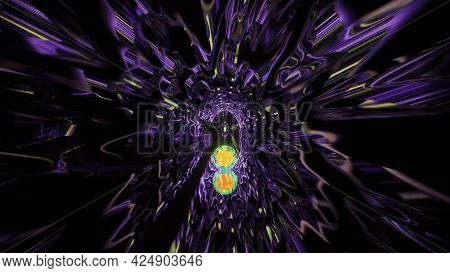 Glowing Tunnel With Light Reflections 4k Uhd 3d Illustration