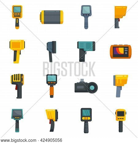 Thermal Imager Icons Set. Flat Set Of Thermal Imager Vector Icons Isolated On White Background