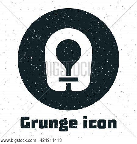 Grunge Life Jacket Icon Isolated On White Background. Life Vest Icon. Extreme Sport. Sport Equipment