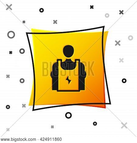 Black Bodybuilder Showing His Muscles Icon Isolated On White Background. Fit Fitness Strength Health