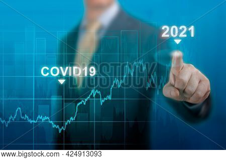 Global Economy Concept Of Economic Recovery After The Fall Due To The Covid 19 Coronavirus Pandemic.